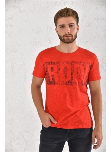 Rodi Jeans Rodi Erkek Flamlı Rodi Baskılı T-Shirt Rd21Ye270002 Kırmızı